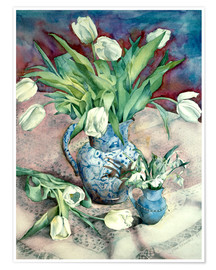 Poster Tulips and Snowdrops