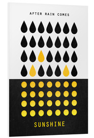 Tableau en PVC  After rain comes sunshine - Elisabeth Fredriksson