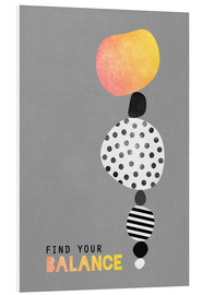 Tableau en PVC  Find your balance - Elisabeth Fredriksson