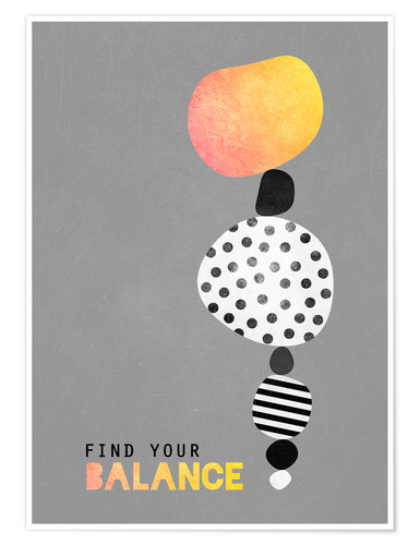 Poster Find your balance