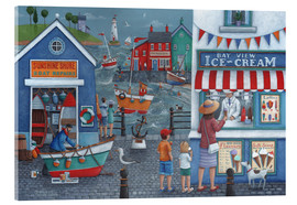 Verre acrylique  Seaside icecreams - Peter Adderley