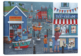Toile  Seaside icecreams - Peter Adderley