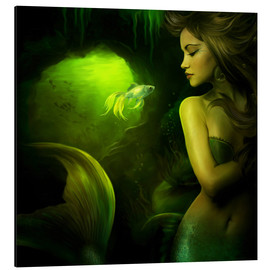 Tableau en aluminium  The mermaid - Elena Dudina