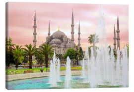 Tableau sur toile  the blue mosque (magi cami) in Istanbul / Turkey (vintage picture) - gn fotografie