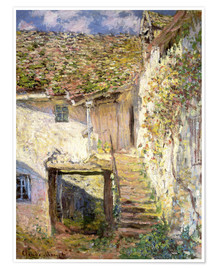 Poster  L'escalier - Claude Monet