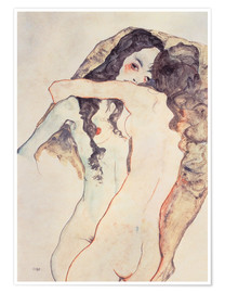 Egon Schiele - Two women in embrace