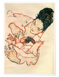 Poster  Nursing Mother (Stephanie Gruenwald) - Egon Schiele