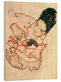 Tableau en bois  Nursing Mother (Stephanie Gruenwald) - Egon Schiele