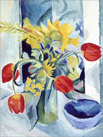 Tableau en aluminium  Nature morte aux tulipes - August Macke