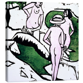 Tableau sur toile  Baigneuses - Ernst Ludwig Kirchner