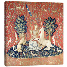 Toile  The Lady and the Unicorn: The sense of sight