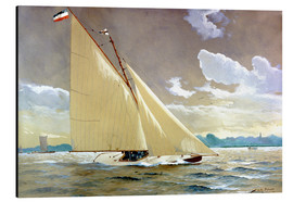 Tableau en aluminium  The sailing boat Henny III. - Willy Stöwer