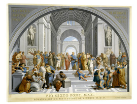 Verre acrylique  School of Athens (after Raphael) to 1771-79 - Giovanni Volpato