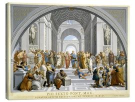 Tableau sur toile  School of Athens (after Raphael) to 1771-79 - Giovanni Volpato
