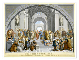 Poster  School of Athens (after Raphael) to 1771-79 - Giovanni Volpato