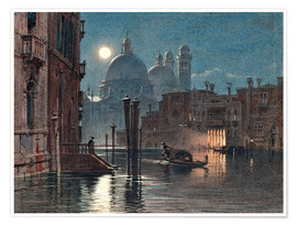Poster Venice at moonlight