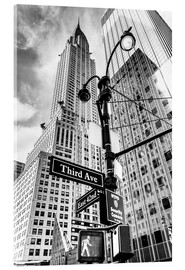 Verre acrylique  Chrysler Building à New York, monochrome - Sascha Kilmer