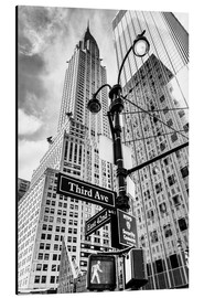 Alu-Dibond  Chrysler Building à New York, monochrome - Sascha Kilmer