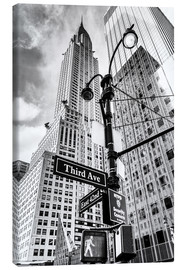 Tableau sur toile  Chrysler Building à New York, monochrome - Sascha Kilmer