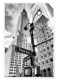 Poster  Chrysler Building à New York, monochrome - Sascha Kilmer