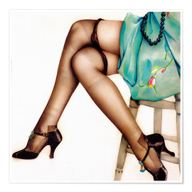Poster  Collants noirs - Alberto Vargas