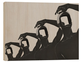 Tableau en bois  people mountain people sea No 3 - Mojo Wang