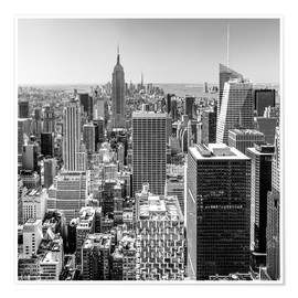 Sascha Kilmer - Top Of The Rock - New York City (monochrome)