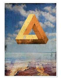 Poster  Penrose triangle - Dieter Ziegenfeuter