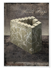 Poster  Penrose stairs vintage - Dieter Ziegenfeuter