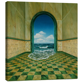 Toile  Water in a room - Dieter Ziegenfeuter