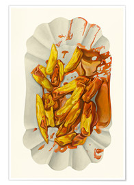 Poster  French fries with ketchup - Dieter Ziegenfeuter