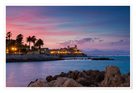 Poster  Antibes at sunset, Provence - Circumnavigation