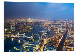 Tableau en PVC  Cityscape of London at night - Circumnavigation