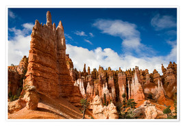 Poster  Queen's garden trail at Bryce Canyon - Circumnavigation