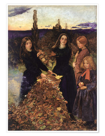 Poster  Autumn Leaves  - Sir John Everett Millais