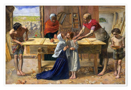 Poster  Christ in the House of His Parents  - Sir John Everett Millais