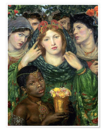 Poster  The beloved - Dante Charles Gabriel Rossetti