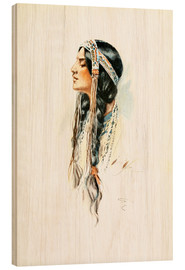 Bois  Red Indian squaw - Harrison Fisher