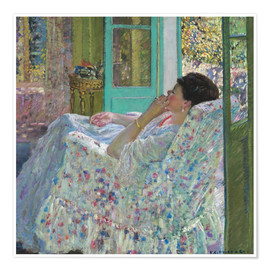 Poster  Afternoon, Yellow Room - Frederick Carl Frieseke