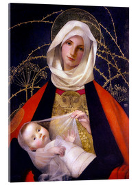 Verre acrylique  Madonna and Child - Marianne Stokes