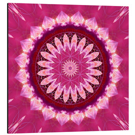 Alu-Dibond  Mandala pinkblossom with flower of life - Christine Bässler