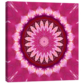 Tableau sur toile  Mandala pinkblossom with flower of life - Christine Bässler