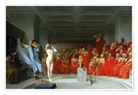 Poster  Phryne before the Areopagus - Jean Leon Gerome