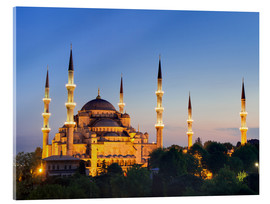 Verre acrylique  Blue Mosque at twilight - Circumnavigation