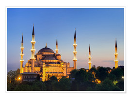 Poster  Blue Mosque at twilight - Circumnavigation