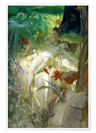 Poster  Chère nymphe - Anders Leonard Zorn