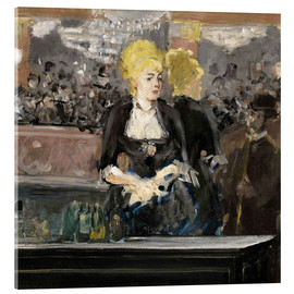 Verre acrylique  Bar at the Folies Bergère - Edouard Manet