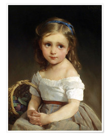 Poster  Girl with plums Basket - Emile Munier