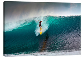 Toile  Extreme surfing huge wave - Mentawai Islands - Paul Kennedy