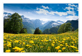 Poster  Braunwald in spring - Peter Wey